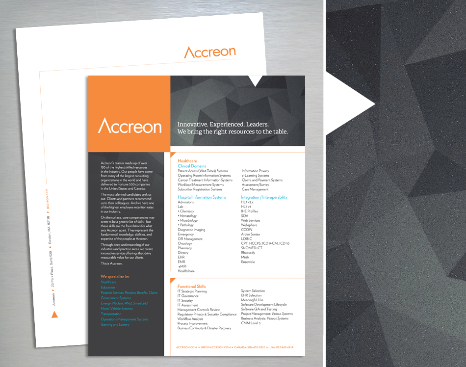 Accreon collateral design
