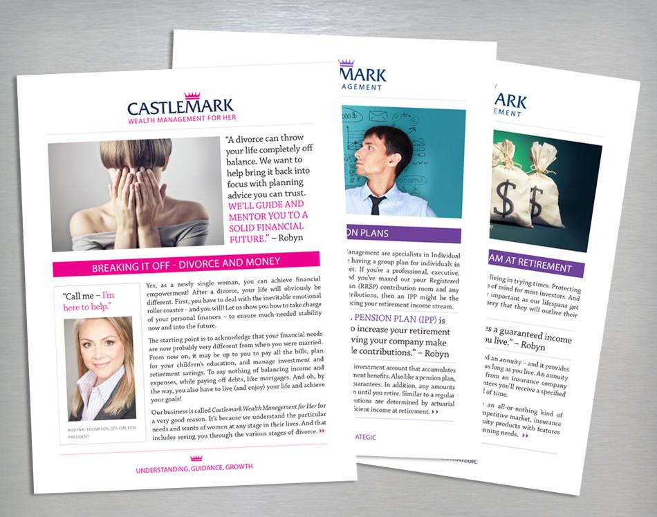 Castlemark Wealth Management marketing materials