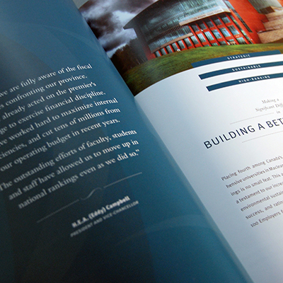 University of New Brunswick President's Annual Report feature image