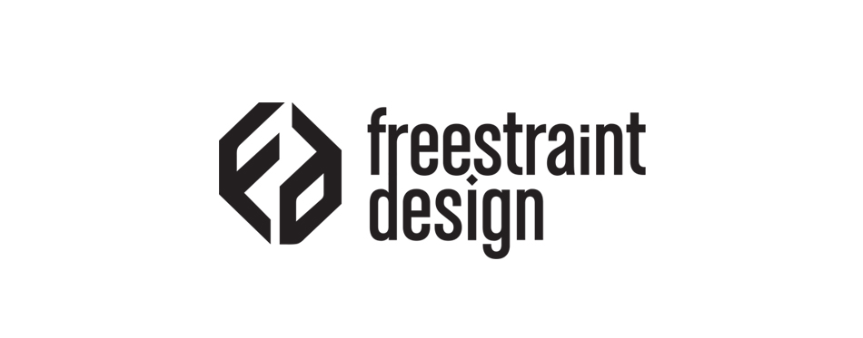 Freestraint Design visual identity logoa