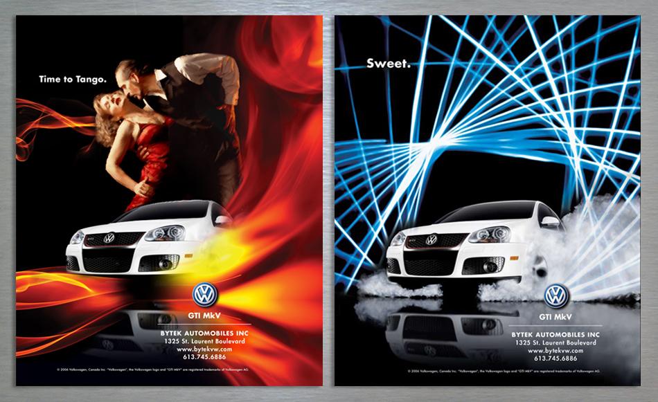 trenz magazine ad design for volkswagen