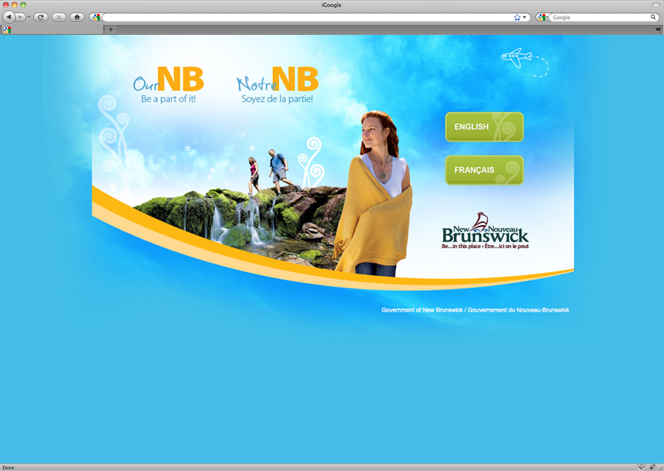 Government of New Brunswick marketing campaign to promote population growth through web presence