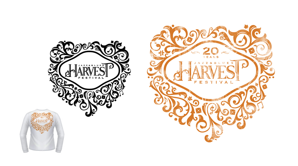 Harvest Jazz and Blues festival merch design