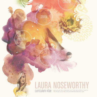 Laura Noseworthy personal branding CV design feature image