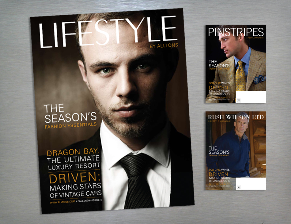 Lifestyle retail magazine cover design