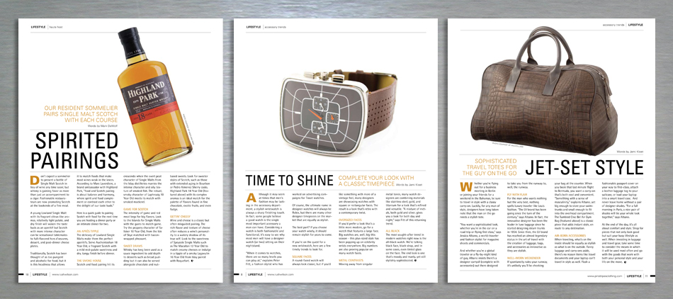 Lifestyle retail magazine editorial design standard content