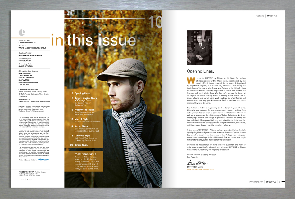 Lifestyle retail magazine editorial design