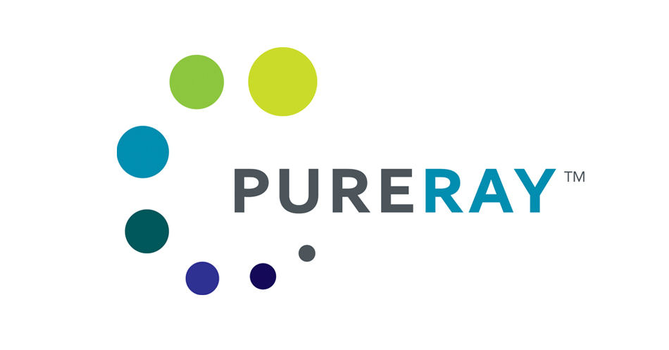PureRay visual identity logo