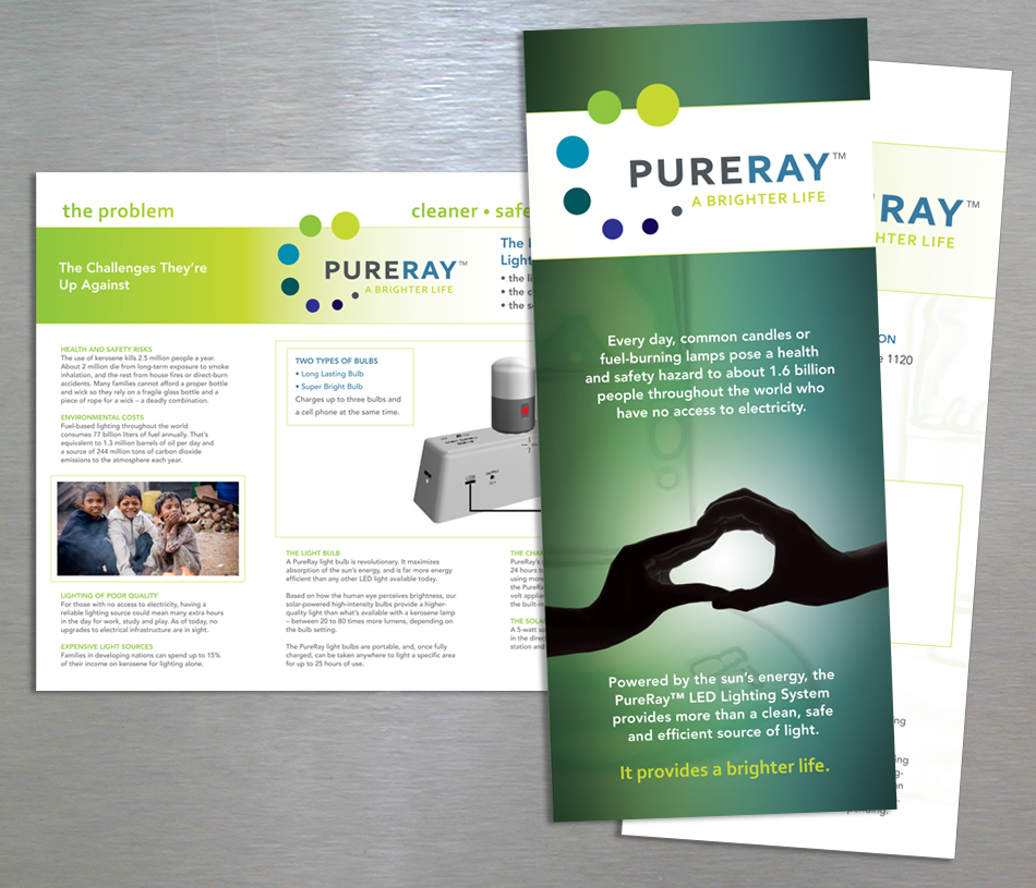 PureRay visual identity collateral