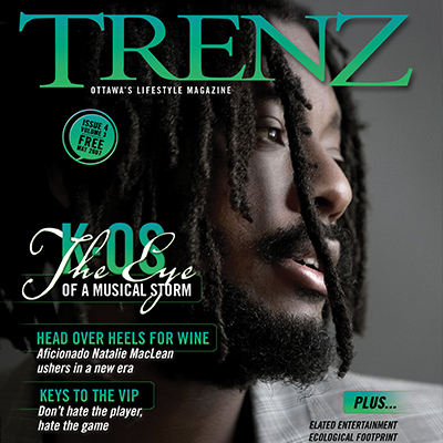 trenz lifestyle magazine cover design with k-os