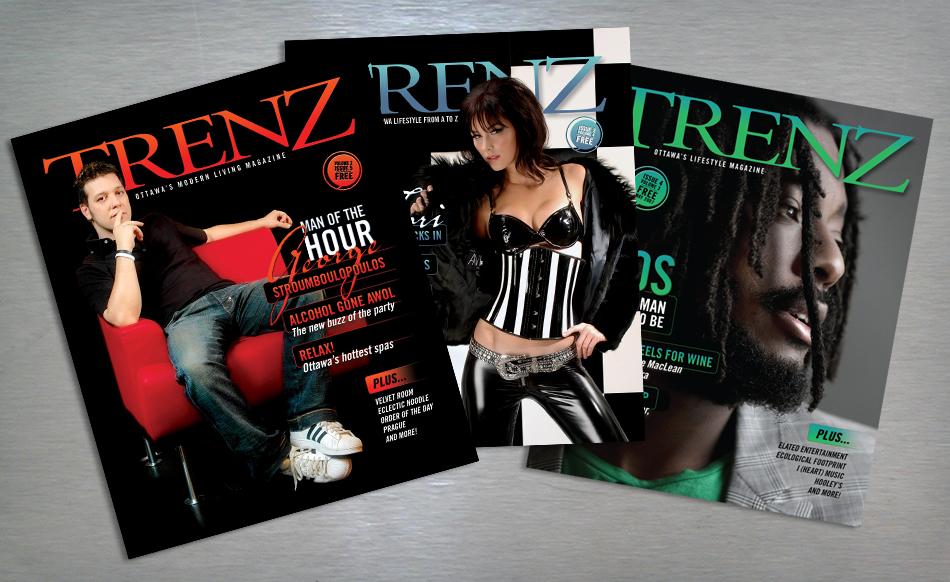 trenz lifestyle magazine cover design