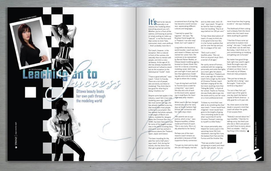 Attractive ... Trenz Lifestyle Magazine Editorial Design ...