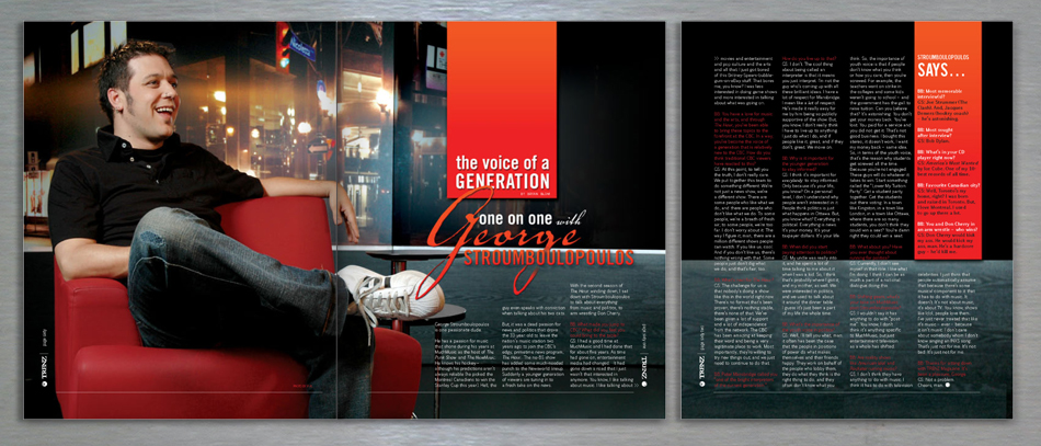 trenz lifestyle magazine editorial design - george Stroumboulopoulos