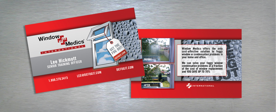 Window Medics collateral postcards